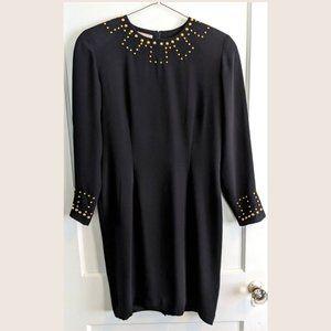 Vintage Adam Douglas Adrianna Papell black dress